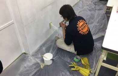 札幌近郊 某学習塾のエアコン他 清掃の巻。