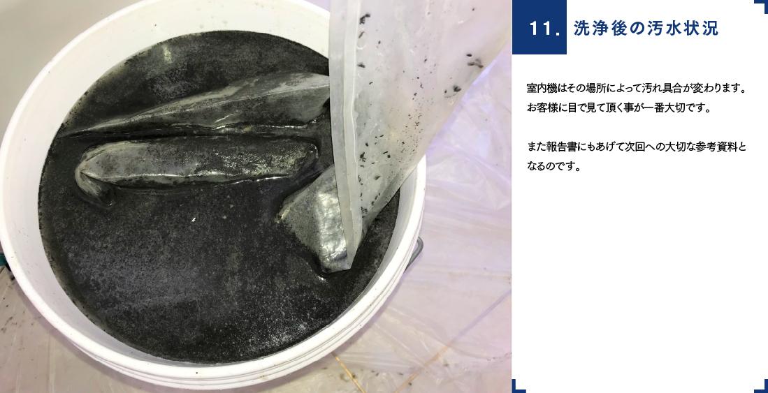 洗浄後の汚水状況